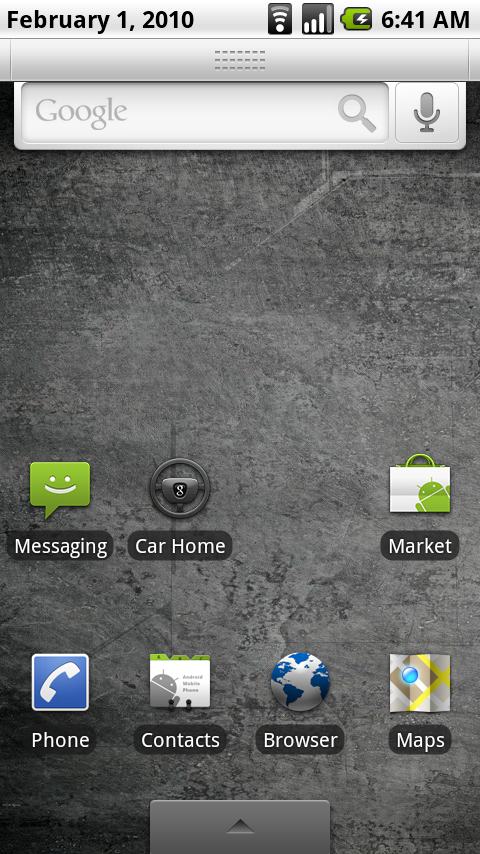 Android Status Bar, OnTouch